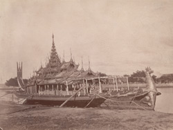 Burmese State Barge at (?)Sagaing